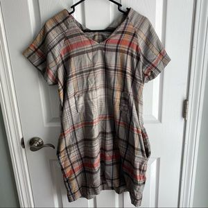 French Collection Size 12 Plaid T Shirt Dress